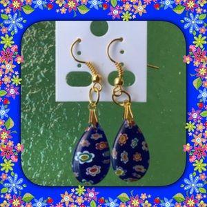 Jewelry - Glass Water Drop Earrings